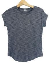 Lululemon Run Around Tee Short Sleeve Top Size 4 Heathered Black Gray Athletic