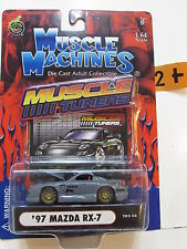 MUSCLE MACHINES MUSCLE TUNERS  '97 MAZDA RX-7  1:64 SCALE