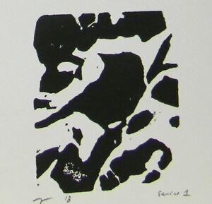 JOSE TRUJILLO Woodcut Print Relief Prints ORIGINAL Abstract Bird Art  - Series 1
