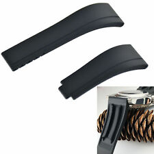 Black Rubber Strap Rolex Daytona GMT Submariner Datejust Bracelet band 20mm L