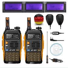 2×Baofeng GT-3 TP Mark III+2×Mikrofon+Kabel 8W Dual Band Radio Hand-Funkgerät DE