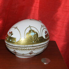 Large! ANTIQUE 19 C. FRENCH PORCELAIN  SEVRES ?MARKED  JEWELLED EGG TRINKET BOX