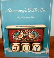 ROSEMARY'S FOLK ART Tole Painting Book by Rosemary West  Patterns Angels