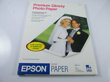 Epson Premium Glossy Letter Size Stylus Color 8.5 x11 Photo Paper 20 Sheets ISO