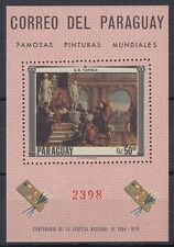 Paraguay 1967 ** Bl.103 Gemälde Paintings Steen Maes  [sq5246]