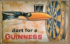 More details for  dart for a guinness large embossed steel wall sign  400mm x 300mm