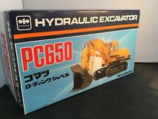 KOMATSU PC 650 Hydraulic Excavator Loading Shovel Yellow Shinsei 1:50 OVP RARE!