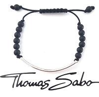 Thomas Sabo Love Bridge Armband Schwarz Silber ca.14,5 - 19 cm