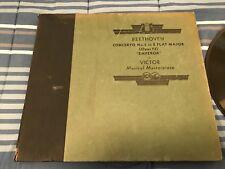 BEETHOVEN CONCERTO NO  5 E FLAT MAJOR OPUS 73 EMPEROR 78RPM 5 RECORD SET M 155