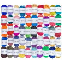 TYH Supplies 50 Skeins Acrylic Yarn Assorted Colors - Perfect for Mini Knitting