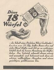 Y6642 WEBER'S Carlsbader -  Pubblicità d'epoca - 1927 Old advertising