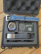 """Boldr Trotamundos GMT Azul Negro """"Batman"""" automático 300M Reloj de hombre"""