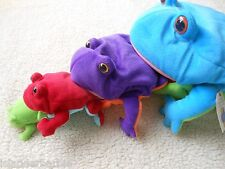 New Plush Set of 4 Frogs Each fit in Mouth of the next by North American Bear