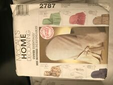 McCalls Home Sewing Pattern Chair Cover 2787
