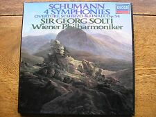 D190D3 SCHUMANN: THE SYMPHONIES / OVERTURES   SOLTI / VPO   3LP   AS LIST   NM
