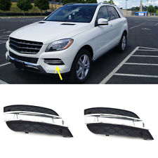 For Mercedes-Benz ML300 ML320 ML350 Front Bumper ABS Trim Grille Fog Light Lamp