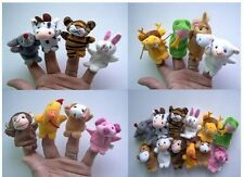 Soft Plush Velour Animal Hand Puppets Kids Animal Finger - 10 Pieces