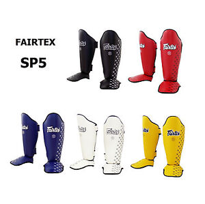 Fairtex Muay Thai Shin Guards Sp5 Black Red Blue White Yellow Pads Kick Boxing