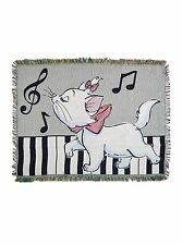 DISNEY ARISTOCATS MARIE KITTEN ON PIANO Scales and Arpeggios TAPESTRY BLANKET