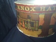 Knox New York Empty Oval Hat Box Fox Hunt Scene