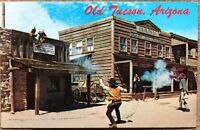 "Vintage Postcard Petley- Old Tucson, Arizona ""The Bank Holdup"" Act - Postmarked"