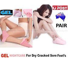 1x Pair Gel Spa Recovery Moisturising Socks Hard Cracked Feet Foot Heel Relief