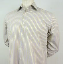 HUGO BOSS Shirt Size 15 1/2 33 Mens Dress Casual Yellow & Purple Stripes