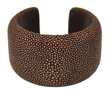 Thompson Luxury Bags Rochenleder-Armreif, Armband, Armspange, braun UVP 189,90 €