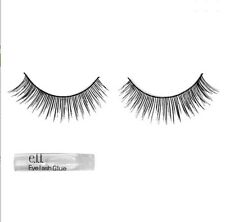 E.L.F Cosmetics Natural Lash Kit Black 1 Pair Black Lashes & Glue Makeup elf E70
