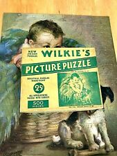 "Antique Wilkie's Puzzle ""Which Shall it Be"" 500 Pieces Complete! Laurette Patten"