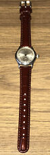 PAUL BREGUETTE STAINLESS STEEL BUMPER 16mm AUTOMATIC RADIUM 1950s PATINA DIAL
