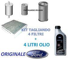 TAGLIANDO 4 FILTRI + OLIO ORIGINALI FORD FOCUS II ,FUSION , FIESTA V/VI 1.6 TDCi