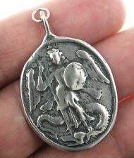 ST. MICHAEL / CROSS OF ST. MICHAEL Medal, silver, cast from antique original