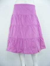 """APOSTROPHE Skirt Fuchsia Cotton Tiered LINED Embellished Long NWOT Sz L - W36"""""""