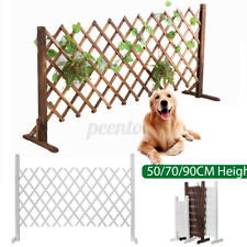 Expanding Fence Wooden Lawn Gate Patio Garden Kid Pet Dog Barrier Landscape