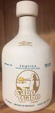 Sammy Hagar Original 1st Cabo Wabo Ceramic White Tequila Bottle Rare Gold Label!