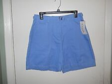 """Basic Editions Ladies Constructed Twill Shorts Size 12 Medium Blue 6"""" Inseam NWT"""