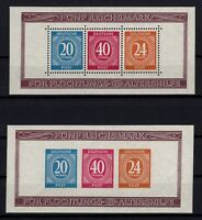 P130736/ GERMANY ALLIED ZONE / MINI-SHEET # 1 MNH PERF & IMPERF CV 148 $