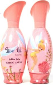 2 Bottles Disney 11.9 Oz Tinker Bell Cute Fresh Fruity Scent Fun Bubble Bath