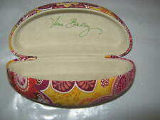Vera Bradley Hard Clam shell Eyeglass Sunglass Case Bali Gold 6.5 x 2.5 x 2 EUC