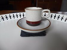 DENBY Potters Wheel 5 Coffee Cups 6 Saucers