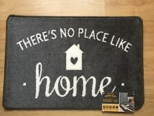 * NEW MODERN LARGE NO PLACE LIKE HOME GREY white indoor floor door mat washable