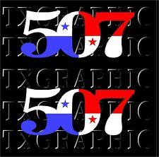 Panama Flag AREA Calling CODE 507 Decal Vinyl Sticker City Canal PA Car Window