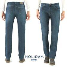 Jeans HOLIDAY uomo Verin elasticizzato comodo e morbido a vita alta con cerniera