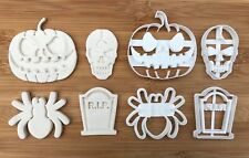 4 pcs Halloween set 4 Uk Seller Plastic Biscuit Cookie Cutter Fondant Cake Decor