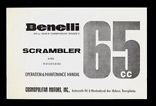 BENELLI SCRAMBLER & WOODSBIKE 65cc OPERATION & MAINTENANCE MANUAL