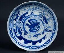 China 17. Jh. A Chinese Blue & White Dish Fu Kuei Mark Ming /Qing Chinois Cinese