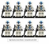 CLONE ARMY LEGO STAR WARS MINIFIGURE CLONE TROOPERS DROID 501ST QTY 8