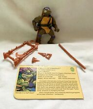 TMNT Don 1988 Ninja Turtles Figure Donatello Complete weapons and card