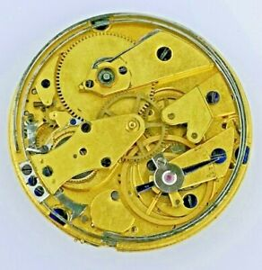 High Quality Swiss Cylinder Repeater Pocket Watch Movement for Restoration (E64)